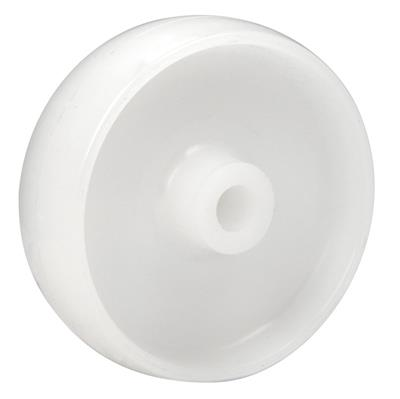 125mm Diameter White Polypropylene Wheel