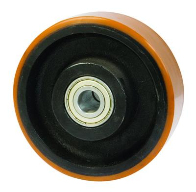 250mm Diameter Cast Iron Wheel Polyurethane Tyre