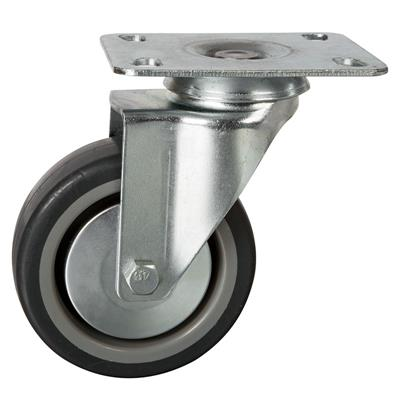 100mm Swivel Plate Castor Grey TPR