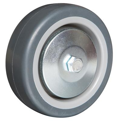 100mm Diameter Wheel Grey Thermoplastic Rubber