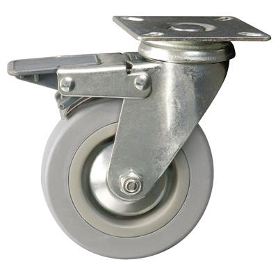 100mm Braked Swivel Plate Castor