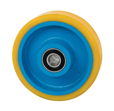 125mm Diameter Cast Iron Wheel Polyurethane Tyre