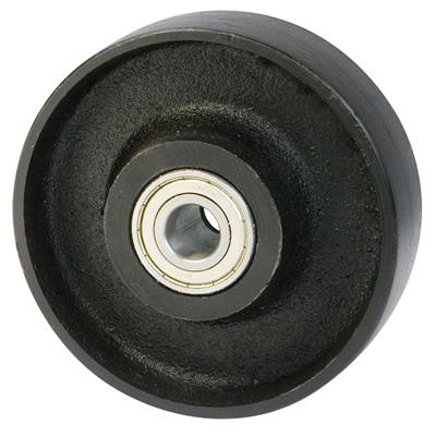 200mm Diameter Cast Iron Wheel 25mm Ball Bearing