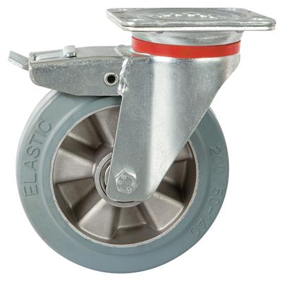 200mm HeavyDuty Braked Swivel Plate Castor Towable